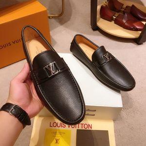 Louis vuitton Luxus-Leder-Mann-Freizeit-Kleidschuhe Parteigeschenk Schuhe Herren Hochzeit Schuhe faul Falts Loafers Leichte Loafers HOCKENHEIM MOCASSIN 22
