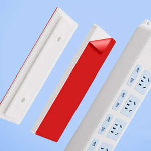 Self-Adhesive Power Strip Sticker Holder Wall-Mounted Desktop Socket Fixer Cable Organizer for Home Accessories