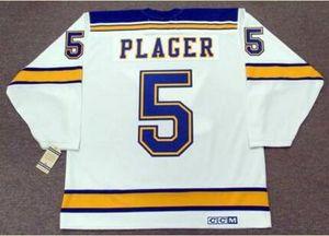 mulheres costume Homens Jovens Vintage # 5 Bob Plager St. Louis Blues 1967 CCM Hockey Jersey Tamanho S-5XL ou personalizado qualquer nome ou número