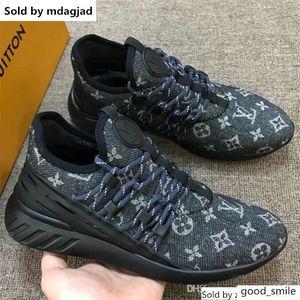 Fastlane Chaussures de sport avec impression Toile Matière Hommes haute qualité Chaussures Designer Lace Up Low Cut Chaussures plates Bas avec la boîte LLL18