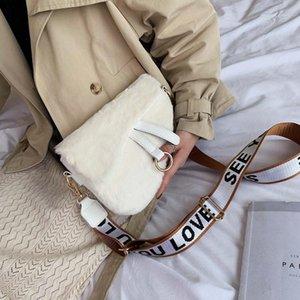 SHOP SUNNY Mulheres Moda Bag Designer Fur Bags luxo Handbag pequeno ombro saco de selim Bags Bandoleira bonito do inverno Largura Strap