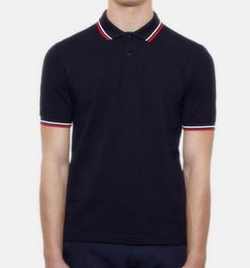 2018 Hot vente célèbre short d'affaires hommes Polo manches chemises populaire broderie coton blé Polos personnalisés design en robe Fred chemises