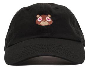 2019 nuevo estilo de Kanye West oso sombrero del casquillo del padre Visera curvada Gorra de béisbol del casquillo mujeres Gorras Snapback sombreros para los hombres de hip-hop casquillos de alta calidad