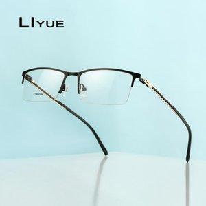 Fashion Square Glasses Frames Men Optical Computer Myopia Prescription glass Half Metal Spectacles Eyeglasses Screwless Eyewear
