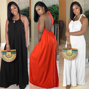 Повседневные платья Женщины Bohemian платья лето цвета конфеты Холтер Backless Beach Holiday Seaside