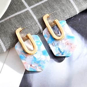 Einfache Geometrische Acetat Ohrstecker für Frauen Böhmen Bunte Dreieck Essigsäure Ohrringe Modeschmuck Mädchen Geschenk