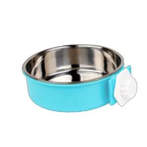 Dog and Cat Bowls - Hangable Raised Pet Dish - Stainless Steel Food and Water Bowls for Small to Large Dogs and Cats