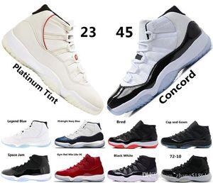 새로운 11 개 낮은 GG 상속녀 프로스트 화이트 블루 뱀 남작 여자 남성 농구 신발 운동화 저렴한 11S 바구니 공 스포츠