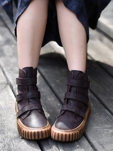 Scarpe Artmu originale Autunno Inverno Nuova Thick Sole Stivaletti casual Genuine Leather Boots Student Platform