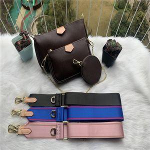Womens сумочек сумка мода мульти Pochette дизайнер сумка крест тела мешок 3 шт рюкзак сцепления кошелек famousbags женщин сумки
