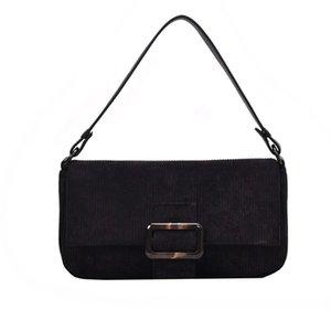 Women Bag Corduroy Packs Advanced Package Crossbody Bags Handle Winter Fashion Casual Temperament Simple H1