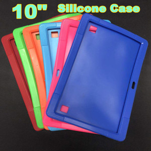 """Soft Colorful Silicone Rubber Gel Case Cover For 10"""" 10.1 Inch A83T A33 A31S Android Tablet pc MID Free shipping 6 color"""