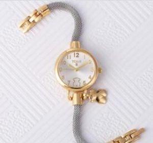 Neue Mode Spanien Strass Uhren Frauen Luxus Edelstahl Armbanduhren Damen Quarz Kleid Uhren reloj mujer Uhr