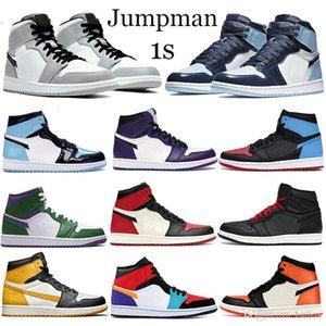 Jordan 1 Retro haute OG chaussures de basket-ball Hommes Top Banni Obsidian Or Bred Toe Backboard 1s Designer Entraîneur Sport Sneakers Drop Shipping