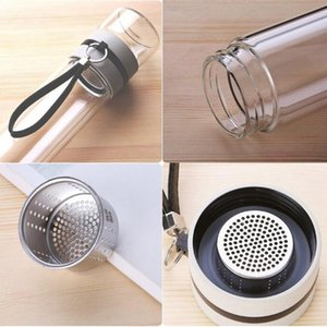 350Ml Travel Drinkware Portable Double Wall Glass Tea Bottle Tea Infuser Glass Tumbler Stainless Steel Filters The Tea Filter