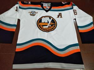 Uomini liberi di trasporto # 16 Fishsticks Ziggy Palffy 1997-98 Gioco di New York Islanders Indossato o su ordinazione qualunque nome o numero retro Jersey