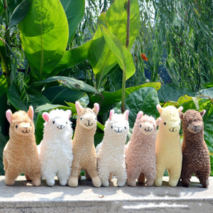 Lovely 23cm White Alpaca Llama Peluche Doll Doll Animali di peluche bambole giapponesi morbidi Alpacasso per bambini Regali di compleanno