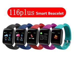 116 Plus Smart Band Sport Fitness IP67 Waterproof Wristband Watch Fitness Tracker Smartband Blood Pressure Heart Rate Monitor Smart Beacelet