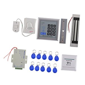 Card Reader Door Access Control Security System Kits Electric Magnetic Lock