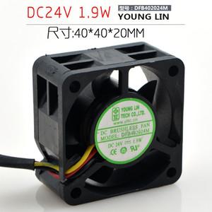 Yonglin DFB402024M 4CM 24V 1.9W 3 Linha do ventilador do conversor 4020 ventilador do servidor