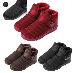 Fashion New Thick Outdoor Warm Cotton Shoes Outdoor Womens Boots Breathable Slip On Size 36-44