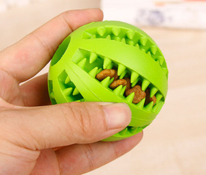 New Rubber Chew Ball Dog Toys Training Toys inside dog food Toothbrush Chews Toy Food Balls Pet Product Drop Ship