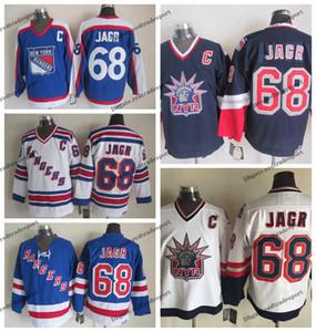 Mens de la vendimia 1998 Nacional Eagle New York Rangers Jaromir Jagr hockey jerseys barato 68 Jaromir Jagr Armada cosido camisas C Patch