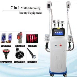 Máquina de cavitación de adelgazamiento al vacío Lipo Láser Pérdida de peso Ultrasonic Liposucción Multipolar Radio Multipolar 3 Manijas de congelación de grasa