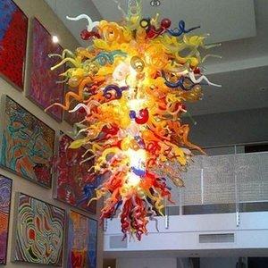 Bella lampada a sospensione della villa colorata lampadari in vetro soffiato a mano tiffany lampade a cristallo di Murano lampade per la lampadari per la casa della decorazione del club dell'hotel