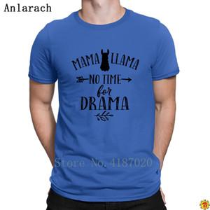 Mama Llama All Black T Shirt Newest Family HipHop Top T Shirt For Men Letter Design Short Sleeve Anlarach Cheap Sale