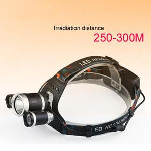 Crestech 6000LM 3T6 LED faro de la cabeza de la lámpara de luz de 3 modos de la antorcha + 2x18650 + cargador de batería para la pesca de luces de faros 3T6
