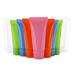 5ml 10ml Empty Refillable Plastic Soft Tube Sample Bottle Squeeze Cosmetic Container Screw Lids Bottle for Shampoo Shower Gel Body Lotion