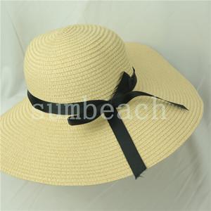 Verão Chapéu de palha 2020 Atacado Caps Mulheres chapéus de vaqueiro Panamá Chapéus de palha Outdoor Sports Ampla Brim Chapéus