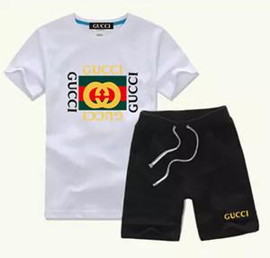 YENİ Marka Çocuk Çocuk tişörtler Ve Shorts Pantolon Çocuk eşofman Çocuk Spor Suit 2 Adet ayarlar / ayarlar Kısa Kollu yaz ceket biof7s ayarlar