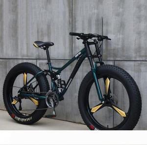 Fat Fahrrad 26 Zoll 21 24 27 Geschwindigkeit Off Road Beach Mountain Bike Adult Super-Breitreifen Männer und Frauen Radfahren Studenten