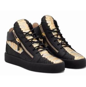 Vente-Italian Hot Marque Designer Top Hommes Femmes Zapatillas Guiseppes réel rivets en cuir chaussures de sport de loisir arène de chaussures Casual