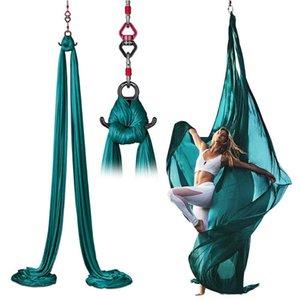 Yoga di alta qualità aerea Amaca Set acrobatica di yoga di ballo Hammock aerea tessuto di seta di oscillazione Per la casa
