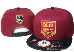 En Moda sıcak yeni NRL QLD Maroons Snapback Şapka NRL Takımları Snapbacks Şapkalar Ayarlanabilir Topu Şapka Bay Bayan Yaz Plaj Güneş Cap 02