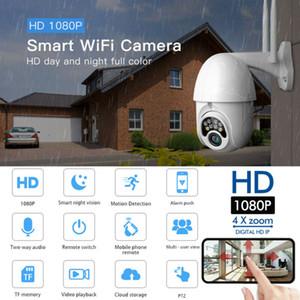 BLANCO inalámbrica WIFI 1080P cámara IP al aire libre HD CCTV Seguridad para el Hogar leva del IR V380
