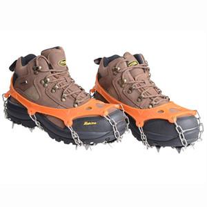 19 이빨 발톱 견인 Crampon 안티 - 슬립 아이스 클리트 부츠 체인 스파이크 샤프 야외 눈 산책 등산 신발 커버