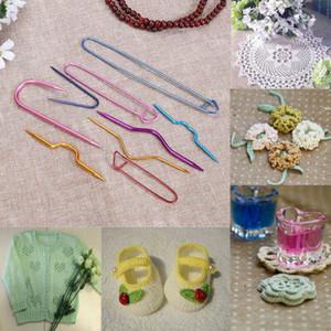 9 pcs Gancho de Crochet U Forma torção Costura Agulhas Pin DIY tricô conjunto de ferramentas