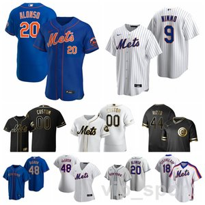 2020 nouveaux York Mets Baseball 48 Jacob deGrom Jersey 20 Pete Alonso 18 Ryan Cordell 40 Wilson Ramos 81 Johneshwy Fargas Mike Piazza