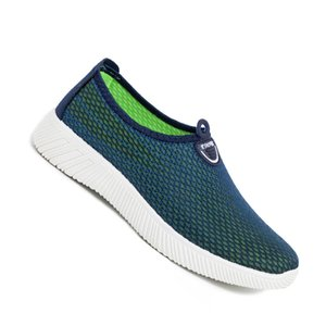 New Men Casual Shoes Full Mesh Breathable Shoes Men Slip on Lightweight Man Walking Footwear Lazy Loafers Men Driving Shoes