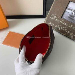 Diseño clásico del elemento flor damas bolsa de cosméticos bolso de la cremallera cuerpo de la bolsa redonda de PVC material de la bolsa de embrague monedero con la CAJA siete colores