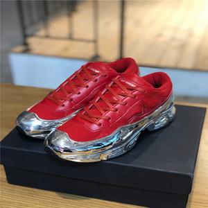 O último par de tênis Raf Simons oversize, Ozweego formadores sapatos de desporto multi-color tamanhos 35-45 em prata metálica efeito de imersão única