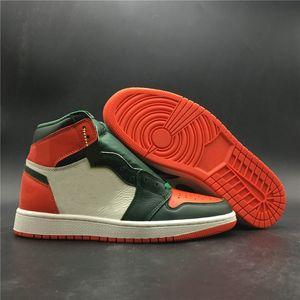 Beste Version 1 High OG Solefly Art Basel Miami Mann Basketball Designer Schuhe kühlen I Sail Fir Mannschaft-orange Turnschuhe mit Kasten