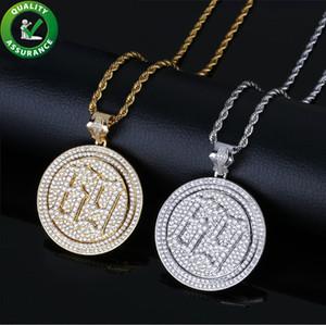 Para fora congelada do pendente de Hip Hop Designer Luxury Jewelry Mens Diamante Rapper Pingentes 6ix9ine para as Mulheres Homens Crianças com corda Cadeia Rocha Moda