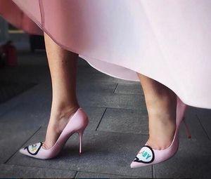 Sophia Webster Boss kadınlar düğün pembe pompalar Boss Lady Süslenmiş yüksek topuklu sivri burun stilettos parti elbise ayakkab ...