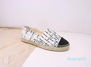 Alpargatas Mujer Slip-On Casual diseñador del cuero de zapatos de lujo zapatos de plataforma para hombre Alpargatas sandalias con la caja Tamaño 34--42 c20