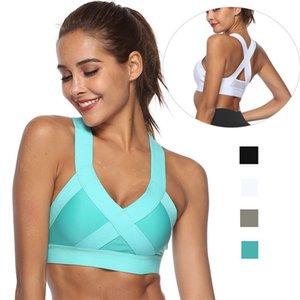 Сращивание Красота Вернуться Спорт Bra Top для женщин, Push Up High Impact Фитнес тренировки бюстгальтер, противоударный Беспроводной Центр Running Bra